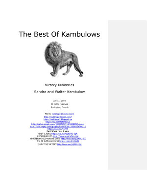 THE BEST OF THE KAMBULOW