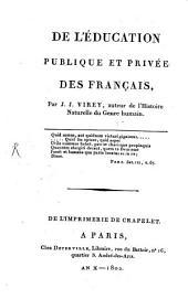 De l'éducation publique et privée des français