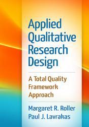 Applied Qualitative Research Design Book PDF