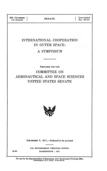 International Cooperation in Outer Space PDF