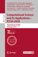 Computational Science and Its Applications – ICCSA 2020