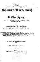 Vollst  ndiges Stamm  und sinnverwandtschaftliches Gesammtw  rterbuch der deutschen Sprache PDF