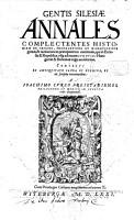 Gentis Silesiae Annales PDF