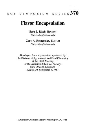 Flavor Encapsulation PDF