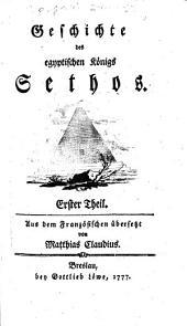 Geschichte des egyptischen Königs Sethos: Band 1