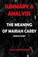 Summary   Analysis Book