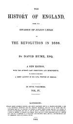 The history of England ... to the revolution in 1688
