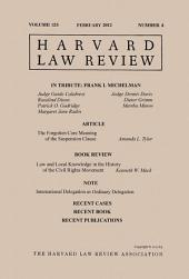 Harvard Law Review: Volume 125, Number 4 - February 2012