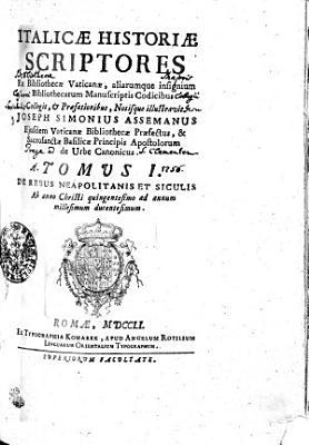 ITALICAE HISTORIAE SCRIPTORES PDF