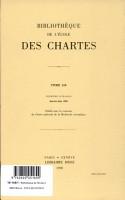 Bibliotheque de L ecole des Chartes PDF