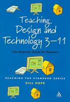 Teaching Design and Technology 3 11 PDF