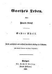 Goethe's Leben: Band 1
