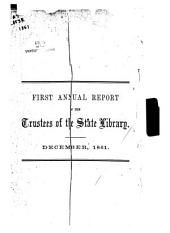 Report of the Trustees of the California State Library