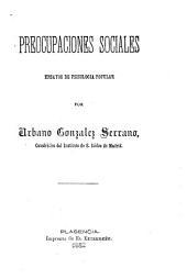Preocupaciones sociales: ensayos de psicología popular