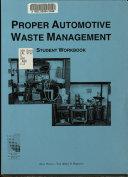 Proper Automotive Waste Management