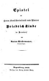 Epistel an F. Linde in Berndorf