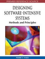 Designing Software Intensive Systems  Methods and Principles PDF