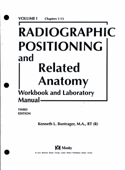 Radiographic Positioning and Related Anatomy Workbook PDF