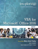 Exploring Getting Started with VBA for Office 2016 PDF