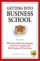 Getting Into Business School PDF