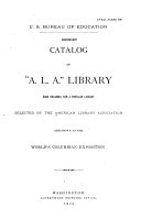 Download Catalog of  A L A   Library Book