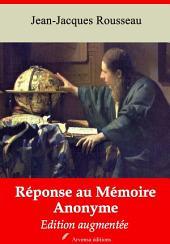 Réponse au mémoire anonyme: Nouvelle édition augmentée