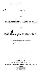 A Letter on Shakespeare's Authorship of The Two Noble Kinsmen
