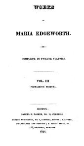 Works of Maria Edgeworth: Belinda. 1824
