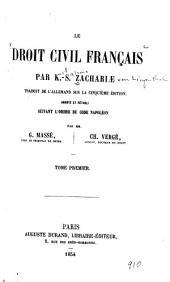 Le droit civil français: Volume1