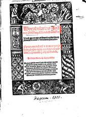 Vocabularius Joannis Altenstaig Mindelhaimensis: vocum que in opere grammatico plurimo continent brevis et vera interpretatio