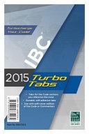 2015 International Building Code Turbo Tabs