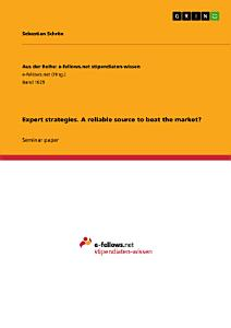 Expert strategies  A reliable source to beat the market  PDF