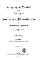 Stenographische protokolle über die sitzungen ...: 1. (eröffnungs-) bis [485.] sitzung ...