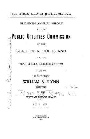 Annual Report of the Public Utility Administrator PDF