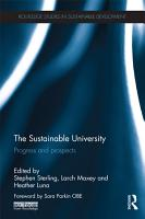 The Sustainable University PDF