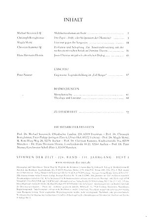 Stimmen der Zeit PDF