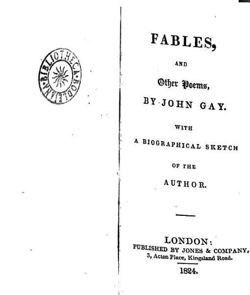 Fables and Other Poems  by John Gay