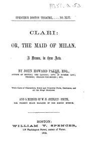 Clari ... With ... a memoir of W. H.-Sedley-Smith, etc