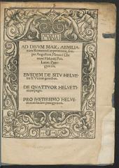 Ad D. Max. Aemilianum Romanorum imp. ... Panegyricon