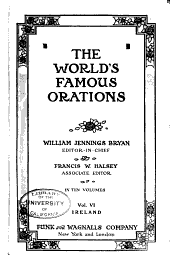 The World's Famous Orations: Volume 6