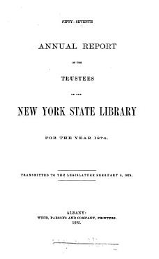 Annual Report of the Trustees of the State Library PDF