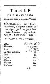 Histoire littéraire de M. de Voltaire: Volumes3à4