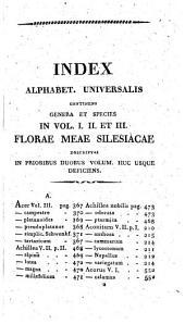 Flora Silesiaca: renovata, emendata, Volume 3