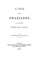 A Tale for the Pharisees  By the author of  Dives and Lazarus    PDF