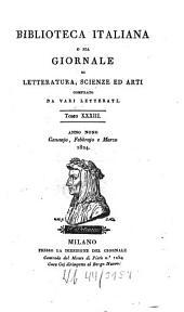 Biblioteca italiana ossia giornale di letteratura, scienze ed arti: Volume 33
