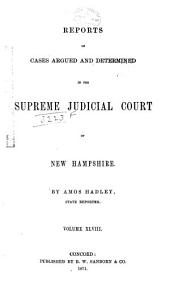 The New Hampshire Reports: Volume 48