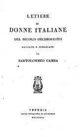 Lettere di donne italiane al secolo decimosesto