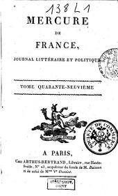 Mercure de France: Volume49