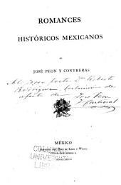 Romances históricos mexicanos de José Peon y Contreras