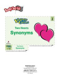 Synonyms Two Hearts Literacy Center Book PDF
